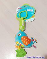 Мягкая игрушка-погремушка с прорезывателем 0125