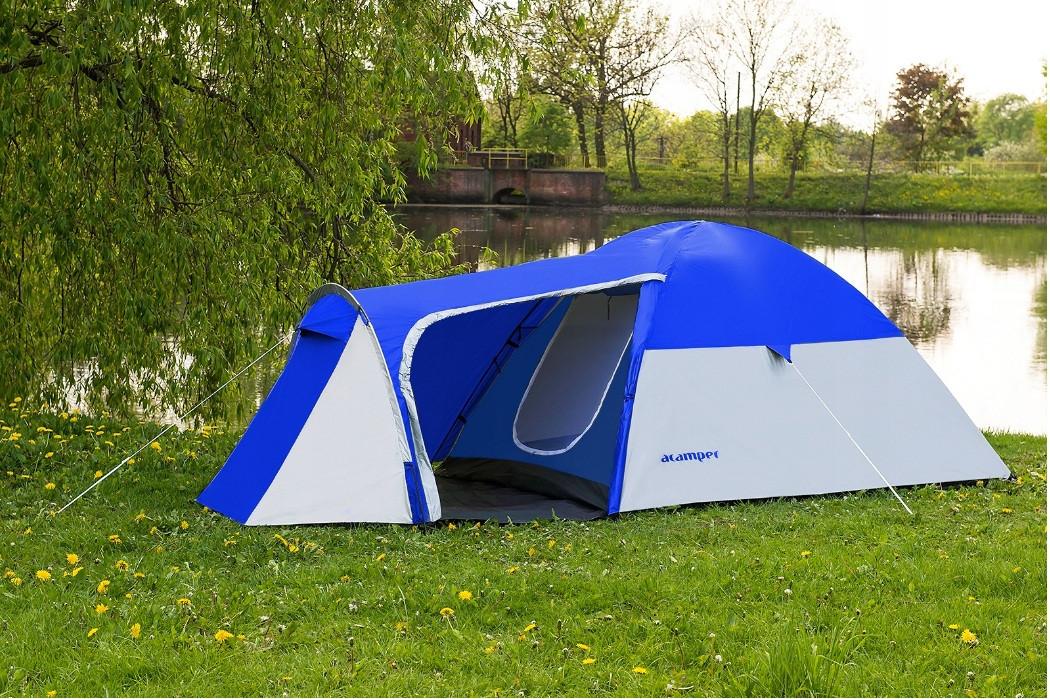 Палатка 4-х местная Presto Acamper MONSUN 4 PRO синzя - 3500мм. H2О - 4,1 кг