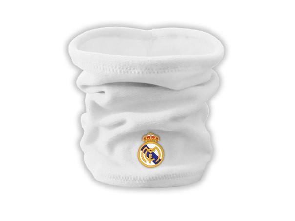 Горловик real madrid white, флисовый горловик для футбола (Реплика ААА+)