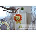 Крісло-гойдалка шезлонг 3в1 м'ятно-бежева Carrello Nanny пульт знімний столик вкладиш обертаються іграшки, фото 5