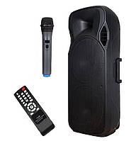 Колонка мощная активная с радиомикрофонам A15-15 (USB/Bluetooth/Аккуммулятор)