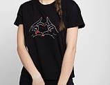 Парні футболки чорного, червоного, жовтого і білого кольору., фото 7