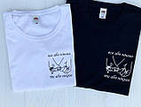 Парные футболки чёрного, красного, желтого и белого цвета., фото 5