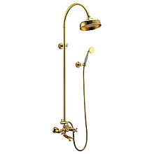 Душевая система со смесителем для ванны Imprese Cuthna T-10280 zlato-n золото