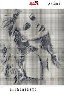 Алмазная вышивка АВ 4043 Девушка  (полная  зашивка)