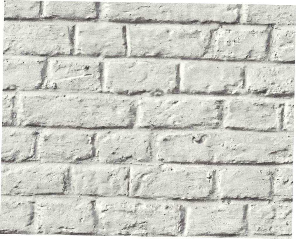 Зносостійкі міцні німецькі шпалери 369122 з 3д візерунком білий цегла вінілові на флізеліновій основі