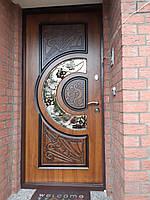 Входная дверь с ковкой и стеклопакетом Cottage Адамант NEW уличная