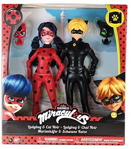 Кукла Miraculous Леди Баг и Супер Кот 26 см квоми Тикки и Плагг Bandai Ladybug and Cat Noir