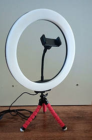 Кольцевая светодиодная Led Лампа 26 см LC666 со штативом и зажимом для телефона, селфи лампа/кольцо