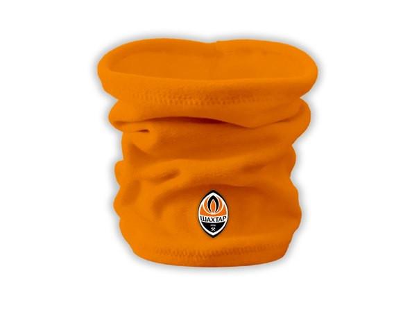 Горловик Шахтар orange, флисовый горловик для футбола (Реплика ААА+)