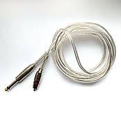 Клип-корд шнур питания для тату машинок с разъемом RCA прозрачный силиконовый №2.