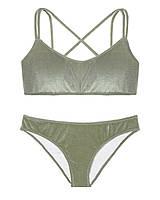 Вельветовый купальник Victoria's Secret топ и плавки бикини art508862 (Хаки, размер XS)