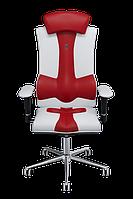 Эргономичное кресло KULIK SYSTEM ELEGANCE Бело-красное 1003, КОД: 1335548