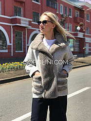 Куртка   с мехом  норки, длина 70см.