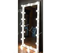 Гримерное зеркало с подсветкой одностороннее рабочее место визажиста Сириус