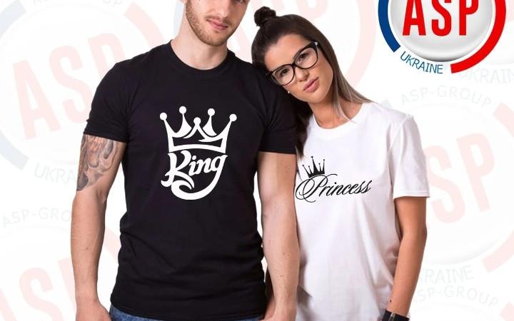 Футболки парні Король і Принцеса
