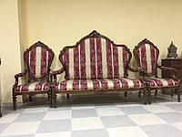 Набор антикварной мягкой мебели барокко диван на три места  и два кресла, б/у