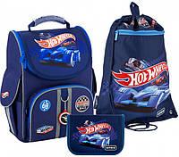 Рюкзак укомплектованный Kite Education Hot Wheels 35х25х13 см 11.5 л Темно-синий (SET_HW20-501S-2)
