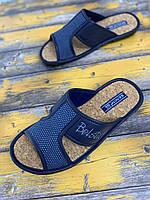 Мужские тапочки Белста (синий) 43,44 размер!полноразмерные.Натуральная пробка.