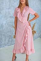 Платье, Ткань: Супер софт,  р-р 42-44, 46-48,  цвет ( Розовый, Белый, Тёмно-синий )