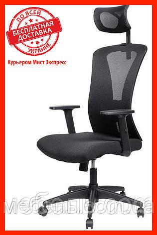 Офисное сеточное кресло Barsky BM-02 Mesh Black, фото 2