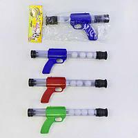 Пистолет пинг-понг 1055  (72/2) помповый, 3 цвета, в кульке