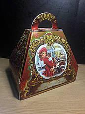 Упаковка новогодняя из картона Саквояж Санта Клаус мелким оптом, на вес до 1500г, фото 3