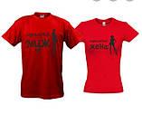 Парные футболки красного и чёрного цвета От луны До марса, фото 7