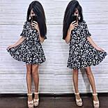 Женское платье-трапеция с рюшами (в расцветках), фото 4