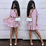 Женское платье-трапеция с рюшами (в расцветках), фото 8