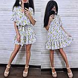 Женское платье-трапеция с рюшами (в расцветках), фото 3