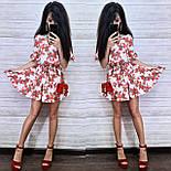 Женское платье-трапеция с рюшами (в расцветках), фото 2