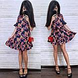 Женское платье-трапеция с рюшами (в расцветках), фото 5