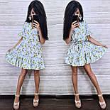 Женское платье-трапеция с рюшами (в расцветках), фото 10