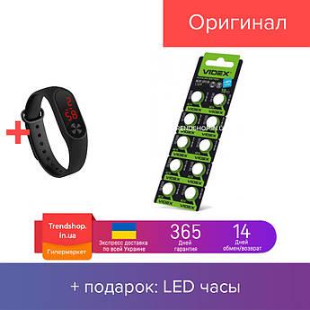 Батарейки-Таблетки 'Videx' AG10/LR1130/1.5V Alkaline блистер - 10шт. упаковка - 100шт.