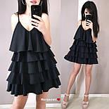 Жіноче плаття-сарафан багатошарове (в кольорах), фото 6