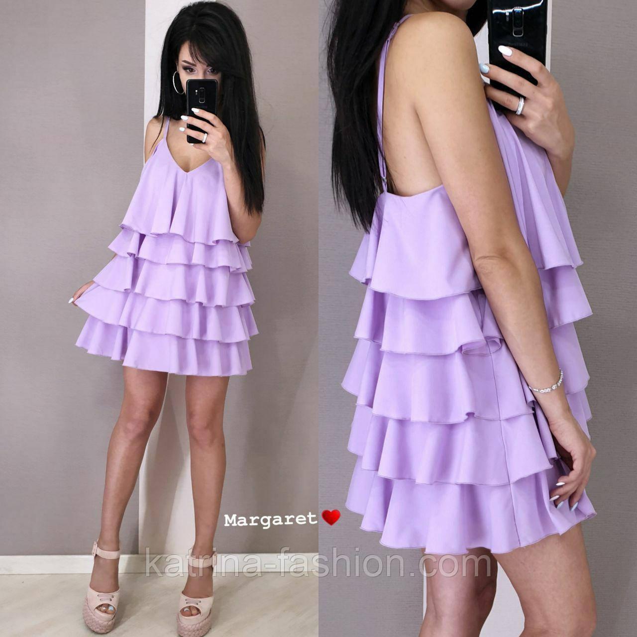 Жіноче плаття-сарафан багатошарове (в кольорах)