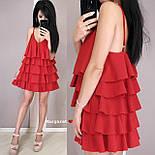 Жіноче плаття-сарафан багатошарове (в кольорах), фото 3