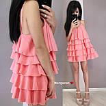 Жіноче плаття-сарафан багатошарове (в кольорах), фото 8