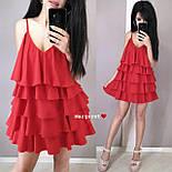 Жіноче плаття-сарафан багатошарове (в кольорах), фото 5