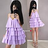 Жіноче плаття-сарафан багатошарове (в кольорах), фото 2