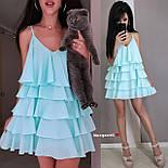 Жіноче плаття-сарафан багатошарове (в кольорах), фото 7