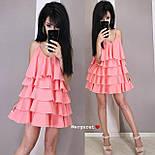 Жіноче плаття-сарафан багатошарове (в кольорах), фото 10