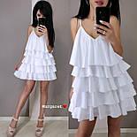 Жіноче плаття-сарафан багатошарове (в кольорах), фото 4