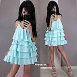 Жіноче плаття-сарафан багатошарове (в кольорах), фото 9