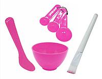 Набор косметологический миска, мерные ложки, шпатель для масок.
