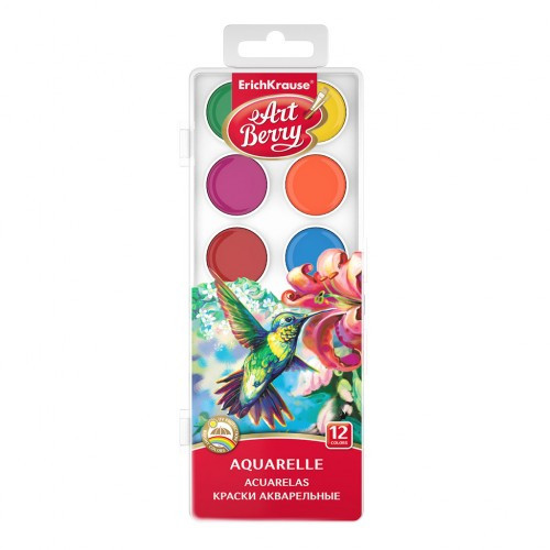 Краски акварельные Art Berry, 12 цветов, EK 41724