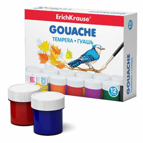 Краски гуашевые Erich Krause, 12 цветов по 20 мл, EK 50537