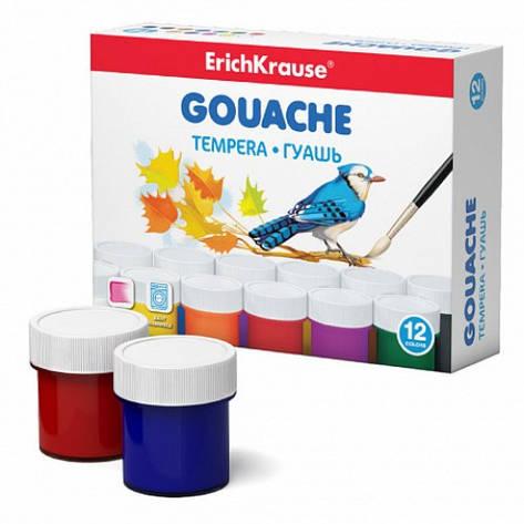 Краски гуашевые Erich Krause, 12 цветов по 20 мл, EK 50537, фото 2