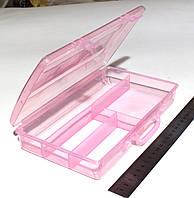 Органайзер пенал для фурнитуры и инструмента, 4 отделения РОЗОВЫЙ (23 х 13 х 4 см.)